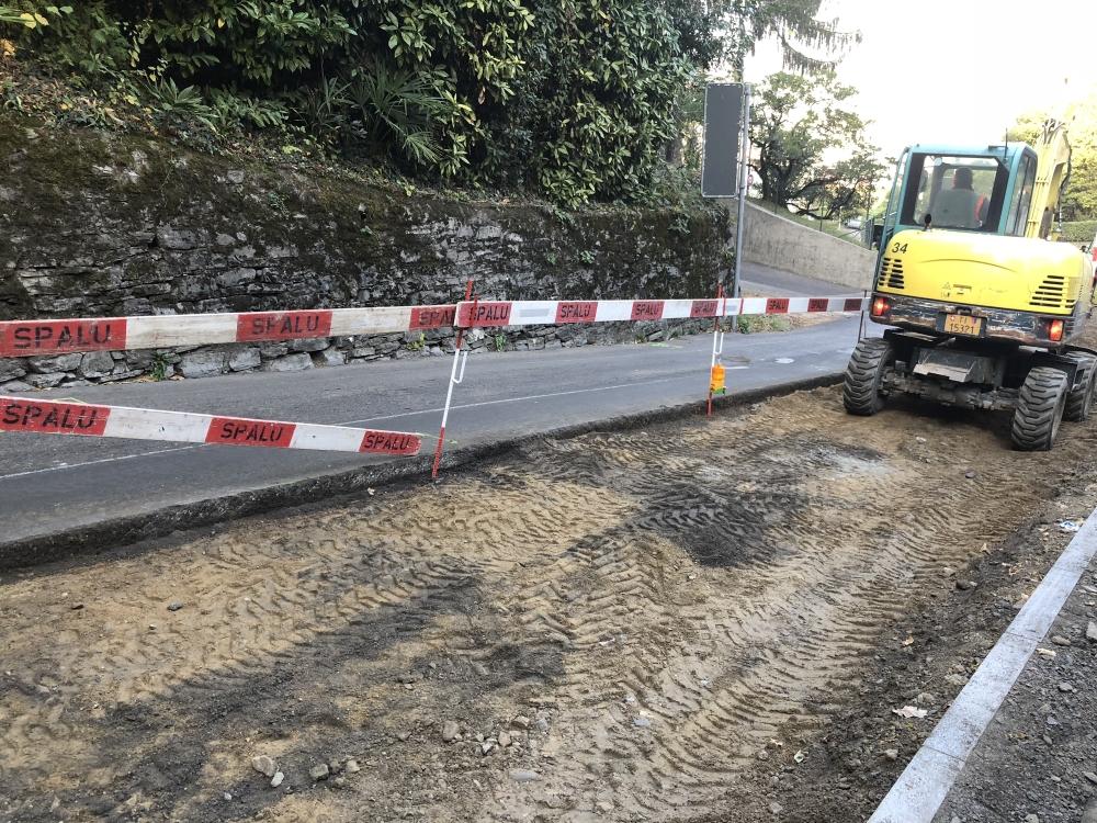 Riprendono i lavori stradali in Via Guidino