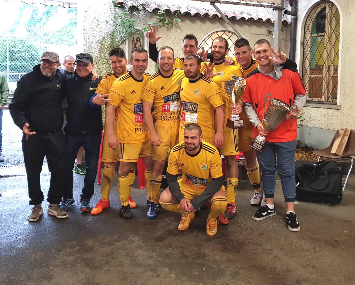 Polizia Ceresio Sud campione di calcio 2019