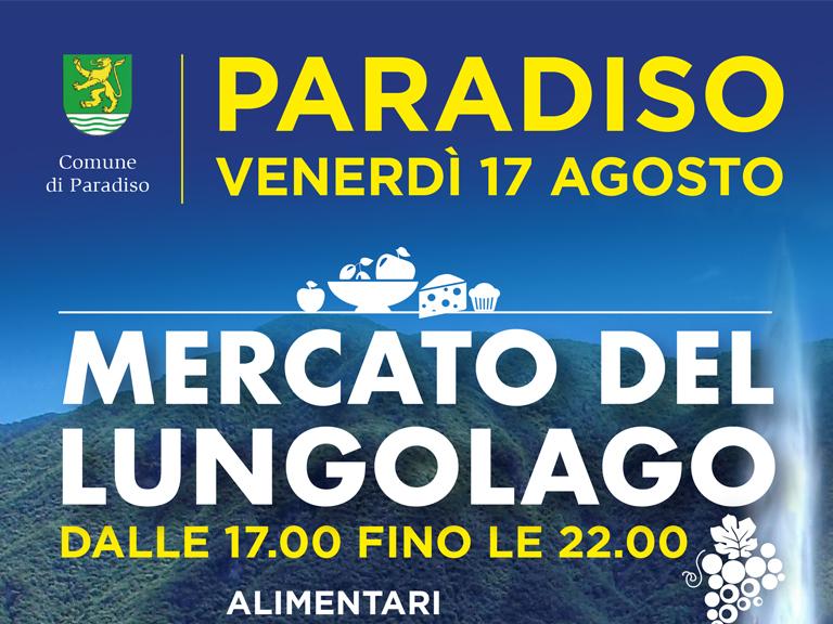 17 agosto: Mercato del Lungolago di Paradiso